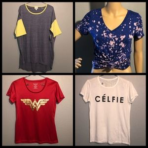 Bundle of 4 tees size small